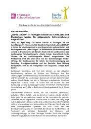 in Thüringen - Starke Schule - Hertie Stiftung