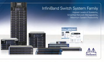 Overview InfiniBand Switches (PDF) - starline Computer GmbH