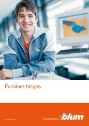 Furniture hinges