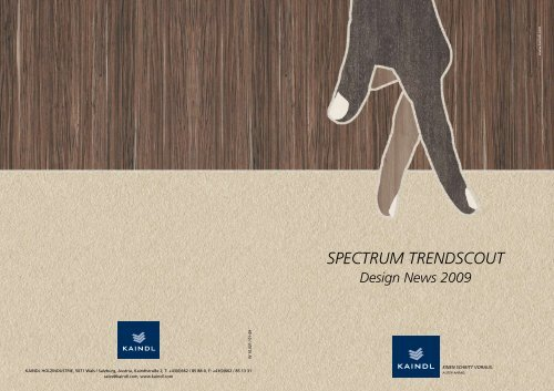 SPECTRUM TRENDSCOUT Design News 2009 - Kaindl