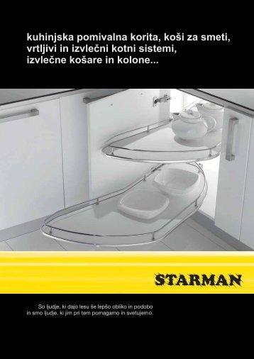 kuhinjska pomivalna korita, koši za smeti, izvlečne ... - Starman doo