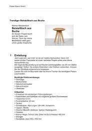 Beistelltisch aus Buche - Bosch Elektrowerkzeuge für Heimwerker