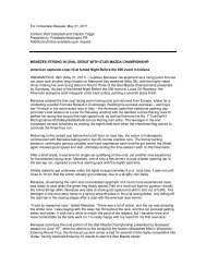 For Immediate Release: May 31, 2011 Contact: Rod ... - Star Mazda