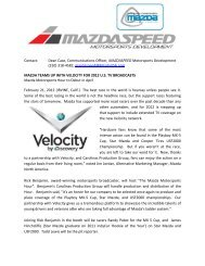 Contact: Dean Case, Communications Officer ... - Star Mazda