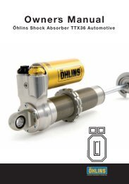 Ohlins TTX36 Owners Manual - Star Mazda Championship