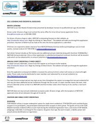 2011 LICENSING AND CREDENTIAL GUIDELINES ... - Star Mazda