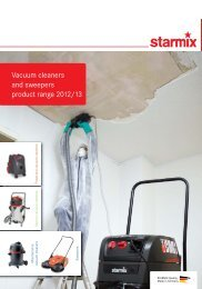 Vacuum cleaners and sweepers product range 2012/13 - Starmix
