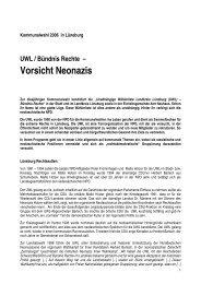 Vorsicht Neonazis - Antifaschistische Aktion Lüneburg/Uelzen