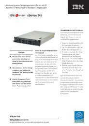 IBM ^ xSeries 345 - StarNet IT GmbH