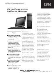 IBM IntelliStation M Pro mit Intel Pentium 4 ... - StarNet IT GmbH