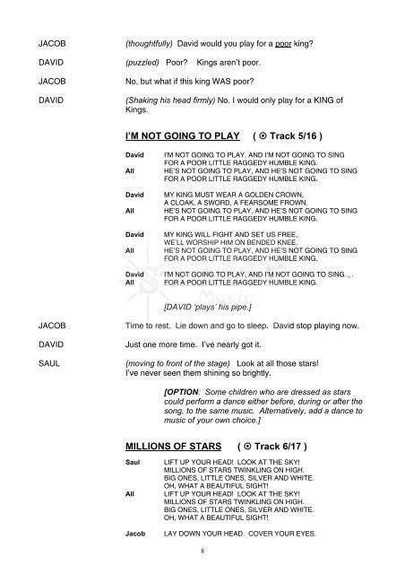 The Raggedy King script sample - Starshine Music