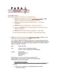 1. PARA Board Meeting and AGM: Monday April 28th - PARA Gene