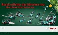 Bosch erfindet das Gärtnern neu. - Bosch Elektrowerkzeuge für ...