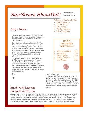 StarStruck ShoutOut! - StarStruck ADA