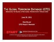 the global terrorism database (gtd) - START - National Consortium ...