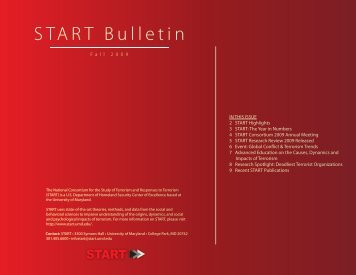 Fall 2009 bulletin - START - National Consortium for the Study of ...