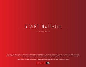 Bulletin Summer 2008 issue - START - National Consortium for the ...