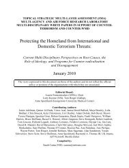 Protecting the Homeland from International and Domestic Terrorism ...