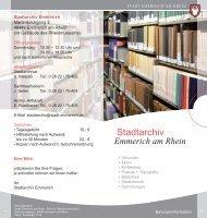 Stadtarchiv Flyer - Emmerich