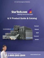 A/V Product Guide & Catalog - StarTech.com