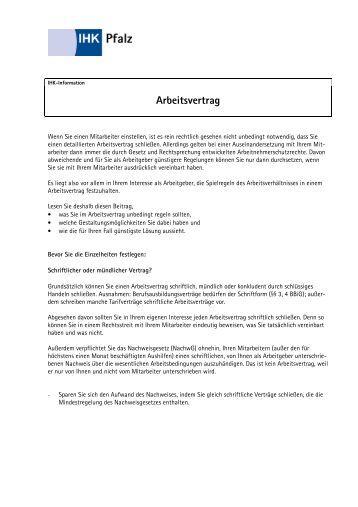 Arbeitsvertrag Fr Geringfgig Entlohnte Beschftigte Ihk Berlin