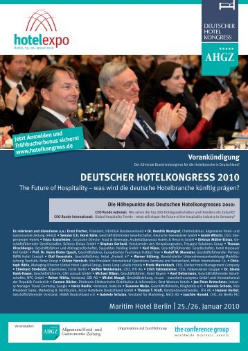 DEUTSCHER HOTELKONGRESS 2010