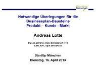 255Vortrag_Produkt_Kunde_Markt_Lotte.pdf - Startup-muenchen.de