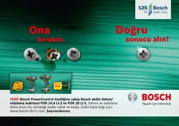 60 - Bosch amatör el işleri