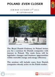 The Royal Danish Embassy in Poland invites you for a ... - W2L