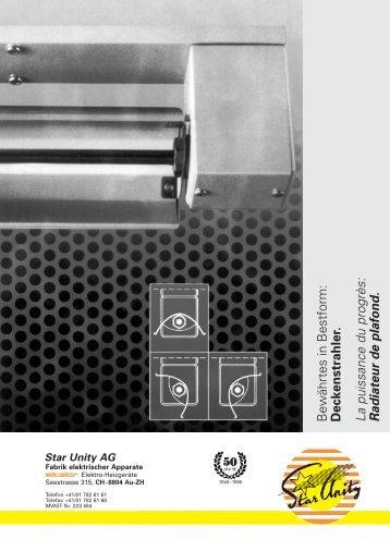 Deckenstrahler Nr.14 - Star Unity AG
