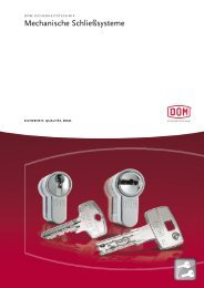 Mechanische Schließsysteme - DOM Sicherheitstechnik