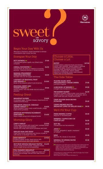 Bistro on Two Breakfast Menu Nov 09 09.cdr - Starwood Hotels ...