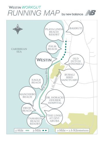 Westin Running Map Starwood Hotels Resorts