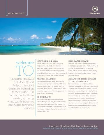 Resort fact sheet - Starwood Hotels & Resorts