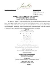 fiorella's cucina toscana offers a fabulous easter brunch - Starwood ...