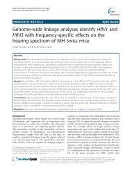 Genome-wide linkage analyses identify Hfhl1 and ... - BioMed Central