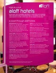 Hotel Fact Sheet - Starwood Hotels & Resorts