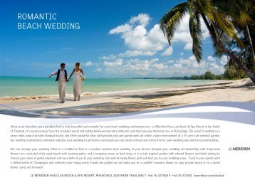 Romantic beach wedding - Starwood Hotels & Resorts