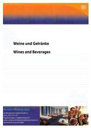 Weine und Getränke Wines and Beverages - Starwood Hotels ...