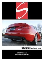 Exhaust Install - STaSIS