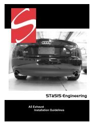 Exhaust Install: B8 A5 3.2 - STaSIS