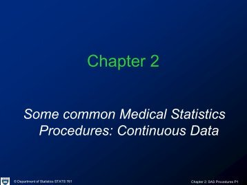 Chapter 2 - Department of Statistics