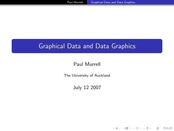 Graphical Data and Data Graphics - Department of Statistics - The ...