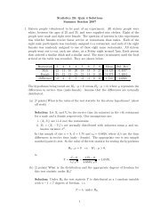 Statistics 20: Quiz 4 Solutions Summer Session 2007 1. Sixteen ...