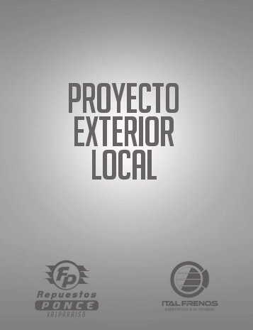 PROYECTO EXTERIOR LOCAL
