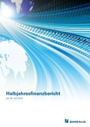 Halbjahresfinanzbericht - Borealis