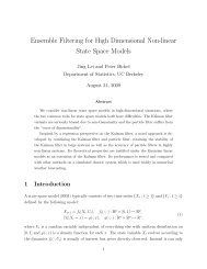 Ensemble Filtering for High Dimensional Non-linear State Space ...