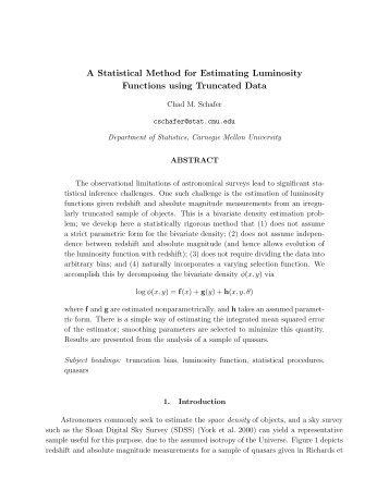 A Statistical Method for Estimating Luminosity Functions using ...