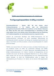 Fertigungskapazitäten kräftig erweitert - Engel Austria