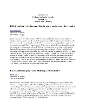 SpatialWorkshop_Abst.. - Statistics - Colorado State University